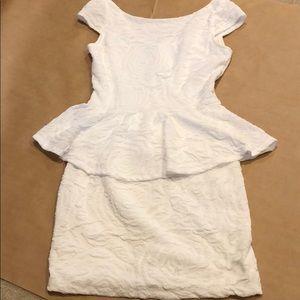 Arden B White Peplum Dress